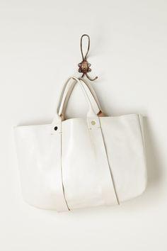 white clare vivier tote