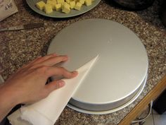 How to cut a perfectly-sized round of parchment paper for the bottom of your pan.