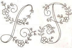 Letras para bordar a mano gratis - Imagui