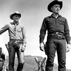 "Yul Brynner ""Chris Adams"" & Steve McQueen ""Vin Tanner"" ~ The Magnificent Seven (1960)"