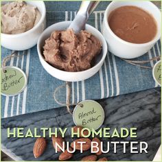 Here's how to make the easiest, healthiest homemade nut butter ever. This recipe is so fresh and creamy that you'll never want to buy a store-bought again!