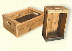 Love these fruit crate lookin' things made of reclaimed wood.