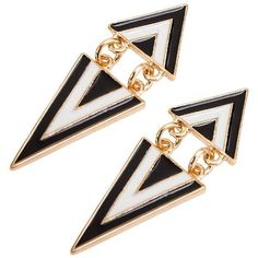 Yoins Vintage Triangle Swing Earings ($4.11) ❤ liked on Polyvore featuring jewelry, earrings, accessories, pendientes, black, triangular earrings, vintage jewellery, vintage earrings, triangle jewelry and triangle earrings