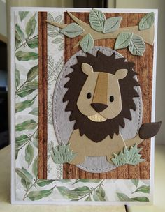 3d Cards, Love Cards, Autumn Animals, Marianne Design Cards, Childrens Rugs, Animal Crafts For Kids, Kids Birthday Cards, Animal Cards, Baby Cards