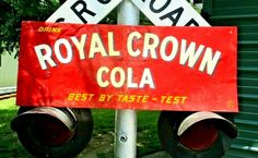 1949 DRINK ROYAL CROWN RC COLA NEHI EMBOSSED METAL SIGN SODA POP COKE #504 #RCColaSign