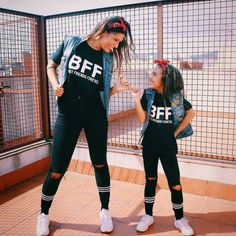 Best Friends Forever  Amigos para siempre  We love the matching shirts and that's why you can find yours on WWW.TEES2PEACE.COM #BFF  #alexiaftbrenda  #alexity  #alexia  #minime  #amigosparasempre  #fashionblogger  #dancingwiththestars  #streetstyle  #fridayfunday  #friyay  #musthave  #welltravelled  #instamodel  #instafollowers  #everydayamazing  #tees2peace  #myqueen  #mommyandme  #auntieandniece  #matchingshirts  #matchingcouples  #instagood  #outfitoftheday  #casualstyle  #familyholiday
