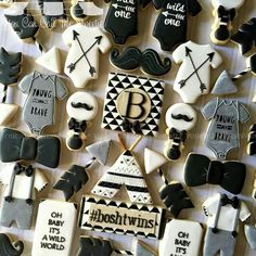 #baby #babyshower #blackandgold #blackandwhite #black #white #gold #arrow #boho #moustache #boy #teepee #bowtie #monogram #gray #neutral