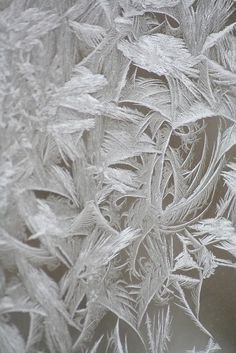 Frost on a single pane window - i wonder how I could get this texture on a garment... tulle maybe?