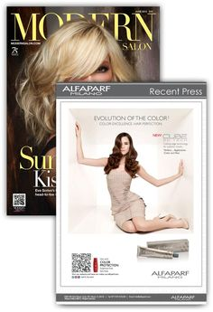 ALFAPARF IN THE PRESS!  The June 2012 issue of Modern Salon featured an ad for our Evolution of the Color Cube with Cube 3D tech. It also featured a QR code that allowed readers to see a special video using their smart phone.