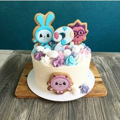 Baby Birthday Cakes, 2nd Birthday, Flamingo Cake, First Birthdays, Cookies, Sweet, Desserts, Food, Collection