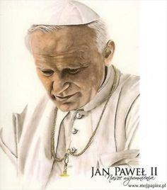 love this drawing of Pope Saint JPII