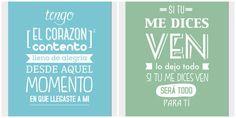 frases de amor con diseño tipografico - Buscar con Google