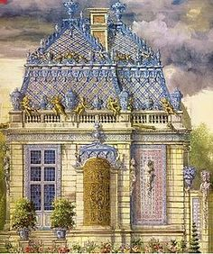 Trianon de porcelaine, 1670-1687, a retreat built by Louis XIV for Madame de Montespan