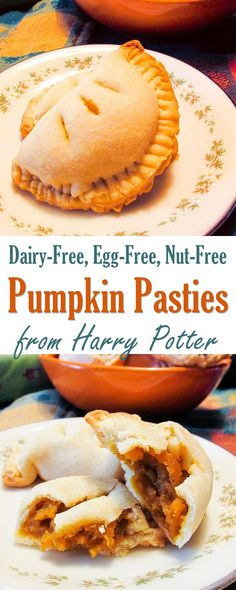 Vegan Pumpkin Pasties Recipe - Dairy-free version of a Harry Potter favorite!