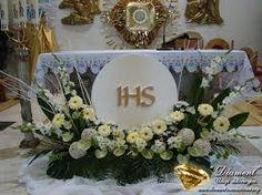 Resultado de imagem para dekoracja ołtarza komunia