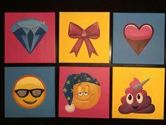 Emoji art with glitter- www.janrigginscustomart.com Art Boards, Emoji, My Arts, Glitter, Painting, Painting Art, The Emoji, Paintings, Painted Canvas