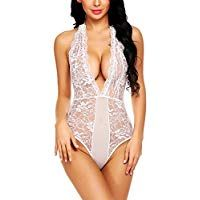 ADOME Women Deep V Teddy Lingerie Backless Eyelash Lace Lingerie Bodysuit Teddy Lingerie, Bodysuit Lingerie, Lace Lingerie, Boudoir, Backless, One Piece, Deep, Swimwear, Outfits