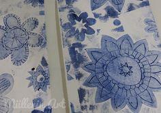 Müllerin Art Stamp Printing, Mermaid, Studio, Prints, Design, Paper, Bookbinding, Art Education Lessons, Pisces