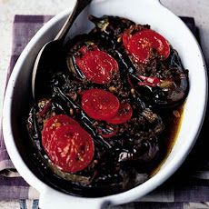 Baked Aubergines Stuffed With Minced Lamb Recipe