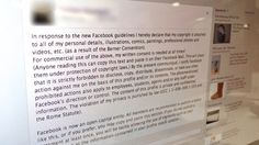 Facebook Copyright Hoax: Don't Copy and Paste that 'Copyright' Facebook Message - ABC News