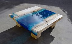 "Breathtaking new ""Lagoon"" tables capture the beauty of the ocean"