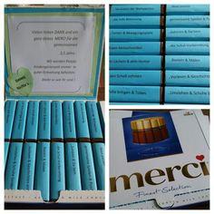 MERCI Schokolade = Dankeschön für Erzieherinnen