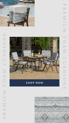 Channel Southwestern style with these comfortable foam outdoor dining cushions from Arden Selections! Patio Chair Cushions, Patio Chairs, Outdoor Dining, Outdoor Decor, Southwestern Style, Outdoor Furniture Sets, Channel, Flat, Prints