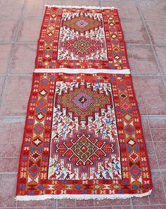 LIVRAISON gratuite A tapis de soie à la main de VAN 74cmx198cm