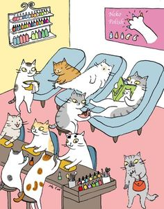 16 Comics That Show The Secret Daily Life Of Cats - Pets and Animals - Chat I Love Cats, Crazy Cats, Cute Cats, Funny Cats, Illustration Mignonne, Cute Illustration, Kitten Baby, Cat Ideas, Cat Comics