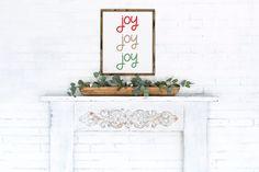 Joy Joy Joy / Christmas Printed Wall Art / Christmas Decor Prints / Floral Watercolor / Print & Ship Wall Art 4x6 5x7 8x10 11x14 by LidtkaPrintCompany on Etsy Christmas Wall Art, Christmas Home, Christmas Decor, Mickey Balloons, Love Always Wins, Fathers Love, Paper Frames, That's Love, Heavenly Father