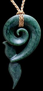 Jade Whale Tail by Shaun Gardiner.    This carving is 3 inches long                              www.boneart.co.nz