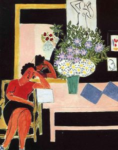 Liseuse sur fond noir, Matisse - 1939
