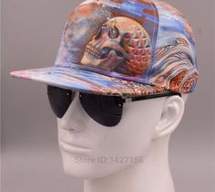 8d1b699fc47 2017 New Skull Flat Brimmed Hat Male Hip-hop 3D Thermal Spring And Autumn  Personality Snapback Hat Leisure Baseball Caps