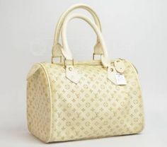 Cream ivory signature Louis Vuitton handbag
