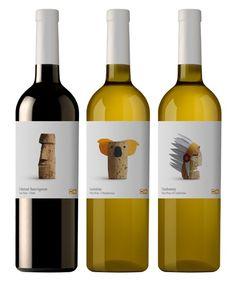 Wine cork-labels designed by Spanish design studio Lavernia & Cienfuegos