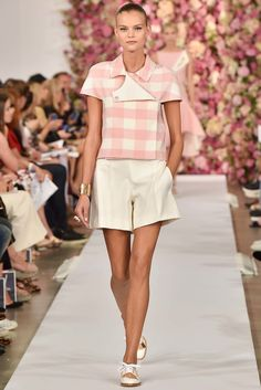 Oscar de la Renta New York - Spring Summer 2015 Ready-To-Wear - Shows - Vogue. New York Fashion, Fashion Week 2015, Love Fashion, Fashion Show, Fashion Trends, Trend Council, Spring Summer 2015, Spring Summer Fashion, Mode Rose