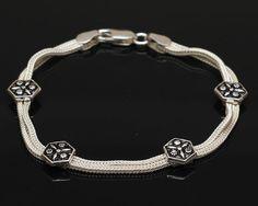 Sterling Silver Celtic Bracelet  Sterling by SilverLiningStr