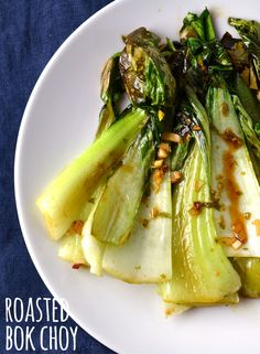 This bok choy is roasted with garlic and ginger and gets a lime zest, soy sauce and vinegar drizzle at the end. It's an addicting and delicious side and couldn't be simpler or faster to make!
