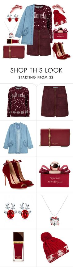 """Merry Christmas !! 🎄"" by karinyferreira ❤ liked on Polyvore featuring Boohoo, Steve J & Yoni P, Marc Jacobs, Gianvito Rossi, Salvatore Ferragamo, Tom Ford and WithChic"