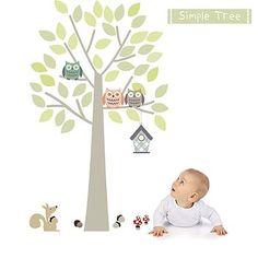 Simple Tree Fabric Wall Sticker