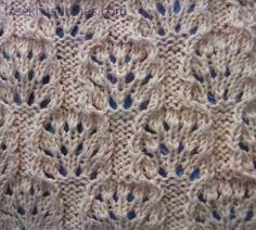 Sea-urchin knitting stitches (see website for more patterns)
