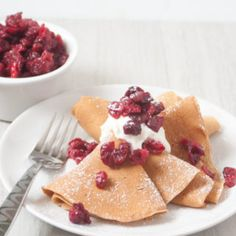 These Whole Wheat Gingerbread Crepes with Maple Roasted Cranberries are a healthy and quick breakfast perfect for Christmas morning! So the gingerbread kick continues! When coming up with this oh so yummy Whole Wheat Gingerbread Crepe recipe I was initially going for pancakes but let's be real it's been done before and my initial recipe...Read More »