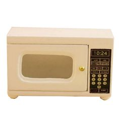New Arrival 1/12 Dollhouse Miniature Electrical White Microwave Ovens Model