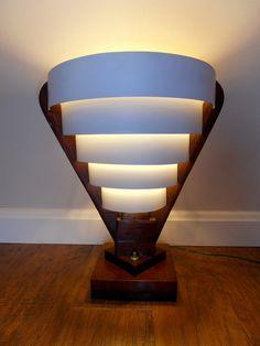 MID CENTURY Modern Table Lamp Handmade Vintage by SquirrelzStuff, $49.00