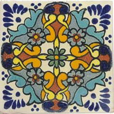 Mexican Tile - Turquoise Grace Mexican Tile