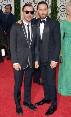 Jared and Shannon Leto at Golden Globes 2014 #redcarpet