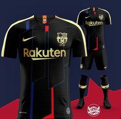 Black kit concept for Barcelona⚫⚽️ Nike Football Kits, Soccer Kits, Football Design, Soccer Sports, Nike Soccer, Soccer Cleats, Barcelona Football Kit, Barcelona Soccer, Fc Barcelona