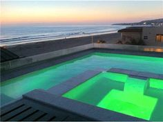 Evening view of Roof top pool?