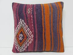 Turkish cushion sofa throw pillow kilim pillow cover decorative pillow case couch outdoor floor bohemian decor boho ethnic rug accent 21860