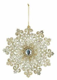 Golden Snowflake ornament